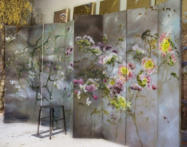 homes of artists and their studios – the home, studio and art of French large scale flower ...