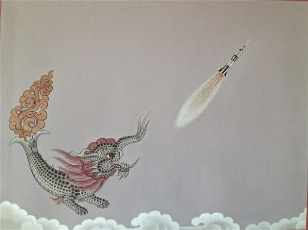 om pom Phurba Namgay dragon-chasing-rocket