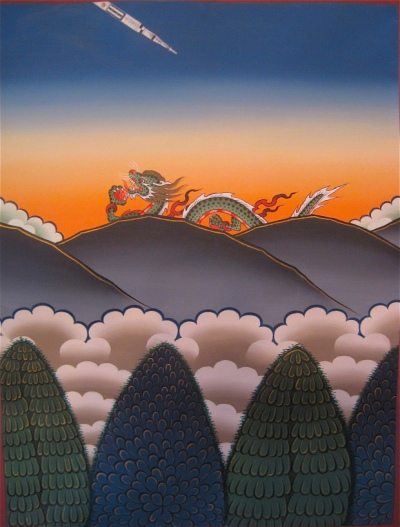 om pom Phurba Namgay rockets sunset-over-the-dragon