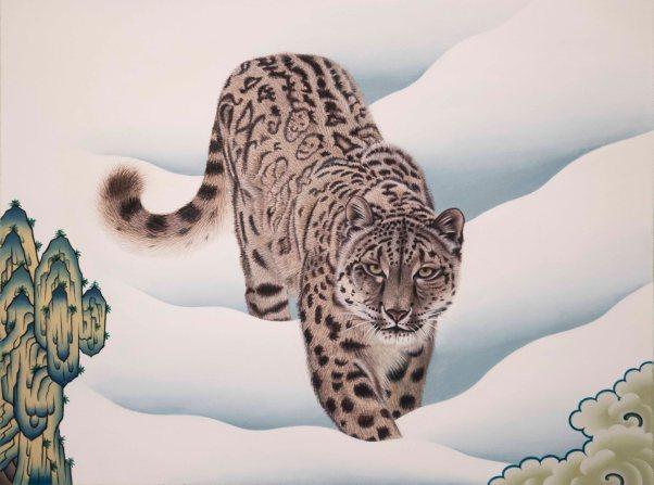 om pom phurba namgay snow leopard