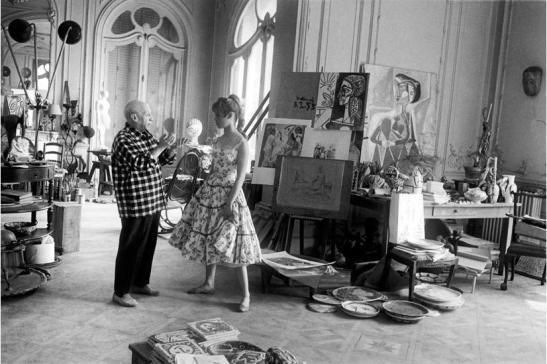 om pom picasso picasso-with-brigitte-bardot 1955