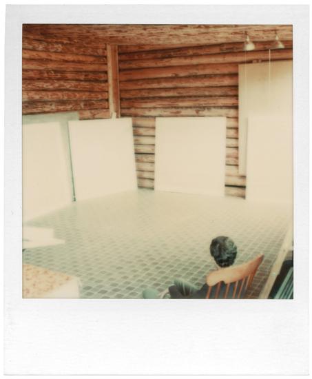 om pom agnes martin Arne Glimcher in Agnes's studio Cuba 1977