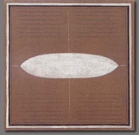 om pom agnes martin brown composition 1962
