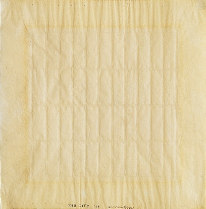 om pom agnes martin the city 1966 ink and graphite on paper