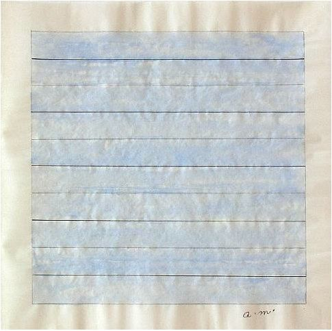 om pom agnes martin untitled early 1980s