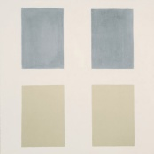 om pom agnes martin Window oil on canvas 1957