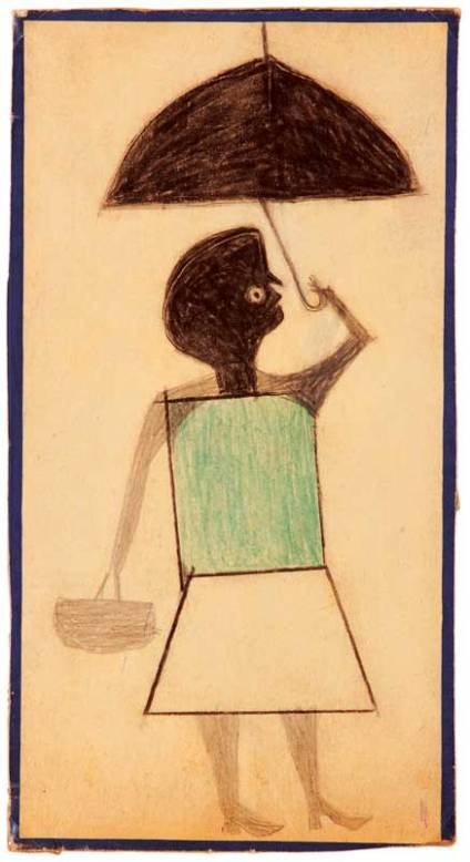 om pom bill traylor woman graphite, crayon, charcoal on cardboard
