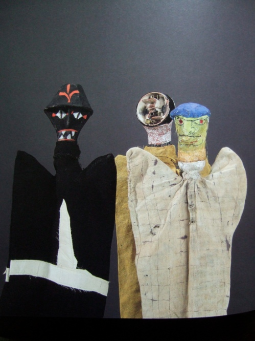 om pom paul klee puppets Black Spectre, Electrical Spook and Old Man.