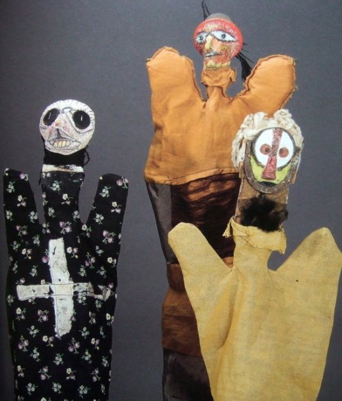 om pom paul klee puppets Ghost of a Scarecrow, Bandit and White-Haired Eskimo