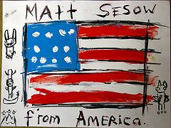 om pom matt sesow work from america