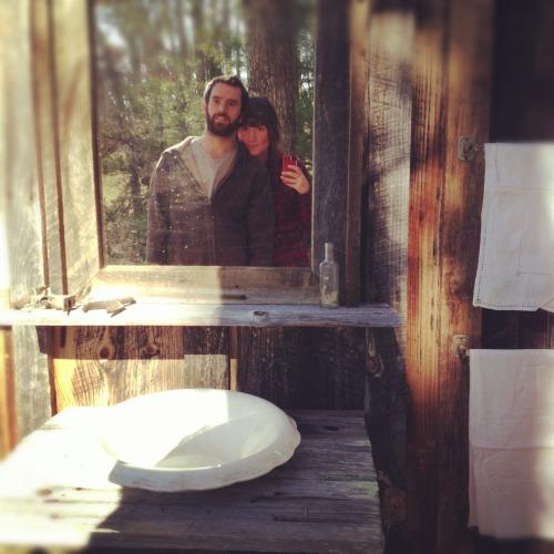 om pom glass cabin old world grange couple