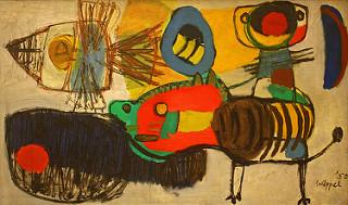 om pom Karel Appel 1950 promenade