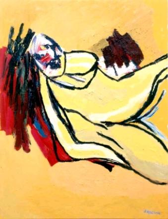 om pom Karel Appel 3yellow nude