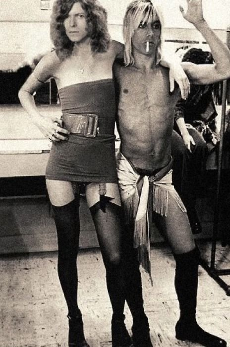 om pom david bowie fashion with iggy pop