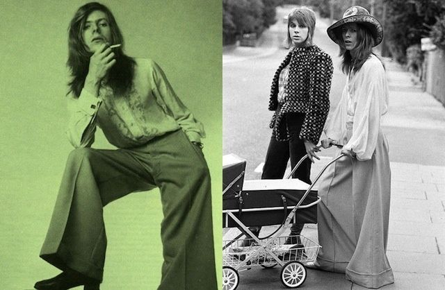 om pom david bowie fashion with stroller