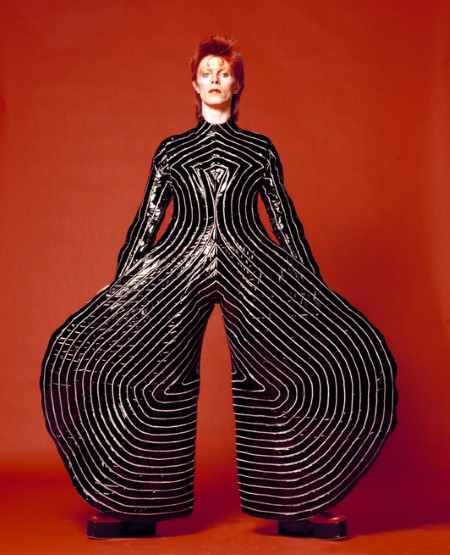 om pom david bowie Picture Sukita Striped bodysuit